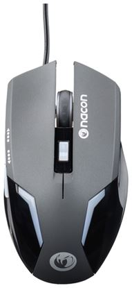Immagine di NACON MOUSE GAMING OTTICO 800-2400 DPI, 6 PULSANTI, LED, SUPERFICIE MORBIDA - BLACK