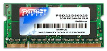Immagine di PATRIOT RAM SODIMM 2GB DDR2 800MHZ CL6 NON ECC