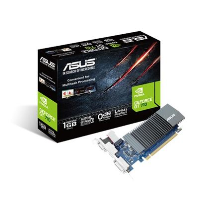 Immagine di ASUS VGA GT 710 1GB GDDR5 VGA DVI HDMI LOW PROFILE