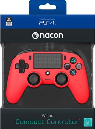 Immagine di NACON COMPACT CONTROLLER CON CAVO PER PLAYSTATION 4 RED (PC COMPATIBILE)