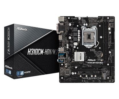 Immagine di ASROCK MB H310CM-HDV/M.2 2DDR4 PCI-E X16 M2 DVI/HDMI MATX