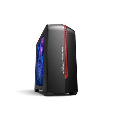 Immagine di ADJ CASE MODELLO 6601 RED DEMON, MATX/ITX/Mini ITX, FINESTRA TRASPARENTE, COLORE ROSSO/NERO