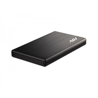 Immagine di ADJ BOX ESTERNO AH621 STEEL 2,5 SATA USB2.0 ALLUMINIO E PLASTICA NERO