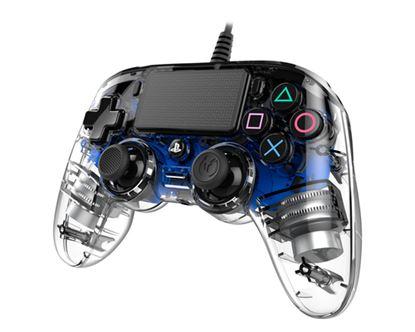 Immagine di NACON COMPACT CONTROLLER LUMINOSO CON CAVO PER PLAYSTATION 4 BLUE (PC COMPATIBILE)