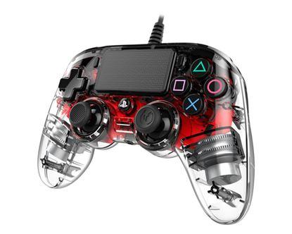 Immagine di NACON COMPACT CONTROLLER LUMINOSO CON CAVO PER PLAYSTATION 4 RED (PC COMPATIBILE)