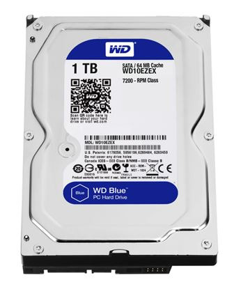 Immagine di WESTERN DIGITAL HDD BLUE 1TB 3,5 7200RPM SATA 6GB/S 64MB CACHE