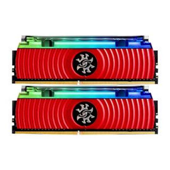 Immagine di ADATA RAM GAMING XPG SPECTRIX D80 DDR4 3000MHZ CL16 2X8GB RGB LIQUID COOLED RED HEATSINK