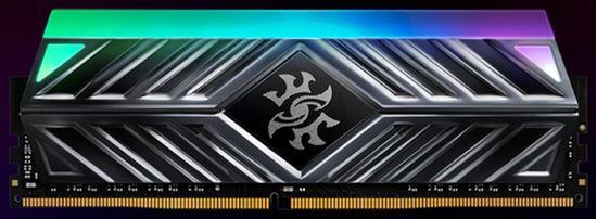 Immagine di ADATA RAM GAMING XPG SPECTRIX D41 DDR4 3200MHZ CL16 2X8GB RGB LED STRIP TITANIUM