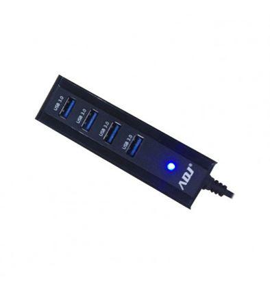 Immagine di ADJ HUB 4 PORTE USB3.0 ALIMENTATORE INCLUSO 5GBPS NERO