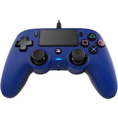 Immagine di NACON COMPACT CONTROLLER CON CAVO PER PLAYSTATION 4 BLUE (PC COMPATIBILE)