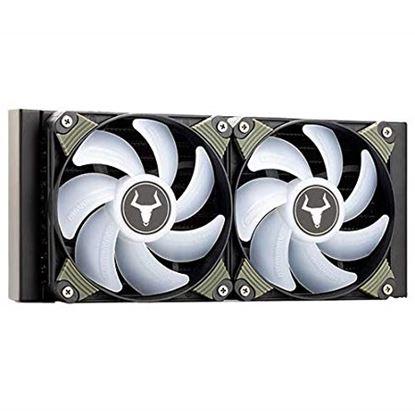 Immagine di ITEK DISSIPATORE A LIQUIDO ICEBLACK 240 - RGB 2X120MM