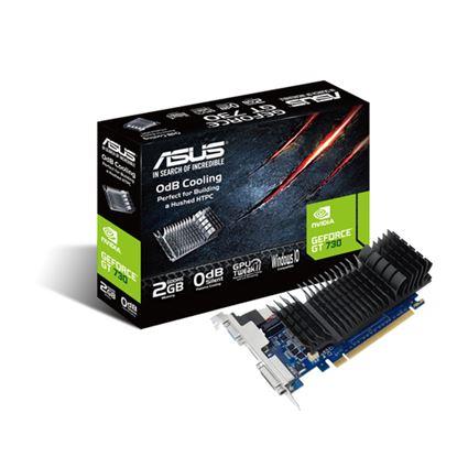 Immagine di ASUS VGA GT 730 2GB GDDR5 VGA DVI HDMI LOW PROFILE