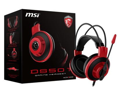 Immagine di MSI CUFFIE HEADSET GAMING DS501, IN-LINE CONTROLLER, MICROFONO REGOLABILE