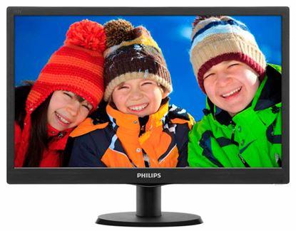 "Immagine di PHILIPS MONITOR 18,5"", LED TN, 16:9, 1366X768, 5MS, 200 CD/M, 90X65, VGA"