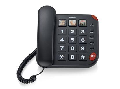 Immagine di BRONDI TELEFONO BRAVO 15 GRANDI TASTI 3 MEMORIE DIRETTE VIVAVOCE AUDIO BOOST