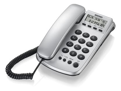 Immagine di BRONDI TELEFONO OFFICE SILVER ID CHIAMATE VIVAVOCE DISPLAY COLORE SILVER