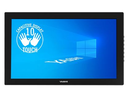 Immagine di YASHI MONITOR TOUCH 23,6 LED IPS 16:9 FHD 1000:1 250 CD/M 60HZ HDMI MINI 10 TOCCHI CAPACITIVO SD CARD WEBCAM