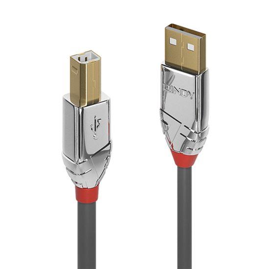 Immagine di LINDYCAVO USB 2.0 A/B CROMO LINE 3M