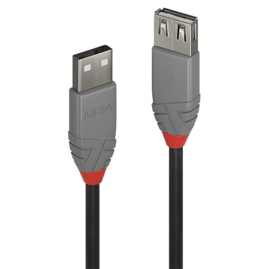Immagine di LINDY2M USB 2.0 KABEL AM/AF ANTHRA