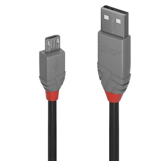 Immagine di LINDY 2M USB 2.0 KABEL A / MICRO-B, ANTHRA