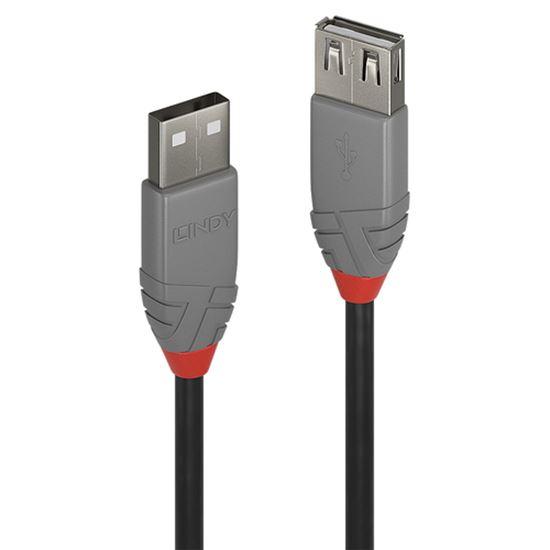 Immagine di LINDY 3M USB 2.0 KABEL AM / AF ANTHRA