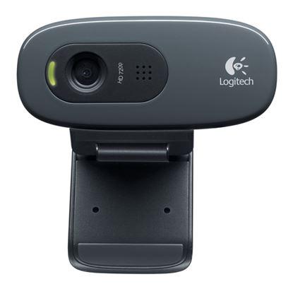 Immagine di LOGITECH WEBCAM HD C270 USB 3MPX 1280X720  FLUID CRYSTAL MICROFONO INCORPORATO CLIP FISSAGGIO RILEVAMENTO AUTOMATIVO VOLTO E MOVIMENTO