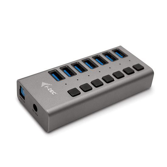 Immagine di I-TEC CAVO USB 3.0 CHARGING HUB 7 PORT+ POWER ADAPTER 36 W