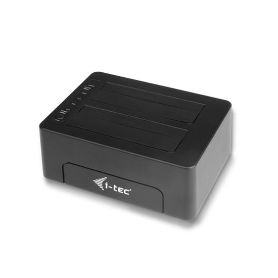 Immagine di I-TEC DOCKING STATION 2X 2.5/3.5 HDD USB 3.0 WITH CLONE FUNCTION