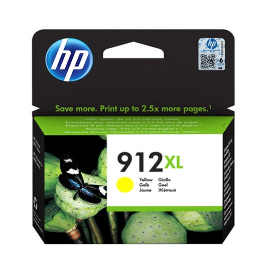 Immagine di HP CART. INK GIALLO N. 912XL PER OFFICEJET 8012, 8013, 8014, 8015, 8022, 8024, 8025, 8035