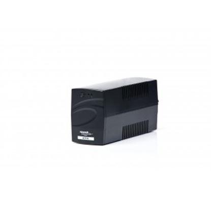 Immagine di MACHPOWER UPS 600VA/290W 1x12V/4,5Ah, 2xOUTPUT, PLASTIC CASE