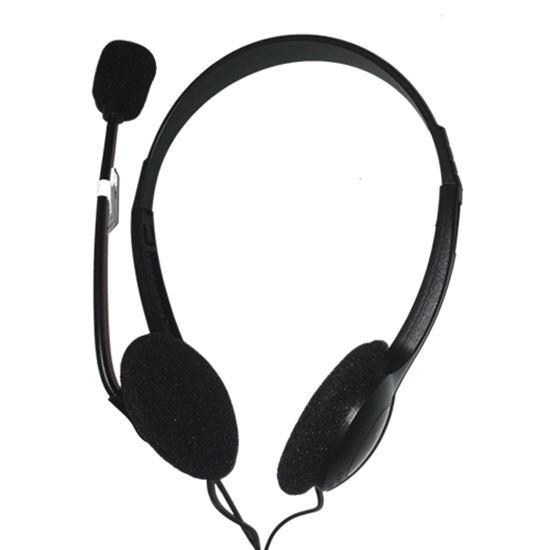 Immagine di ENCORE CUFFIE CON MICROFONO USB 2.0, REGOLAZIONE DEL VOLUME, LUNGHEZZA CAVO 1.5M
