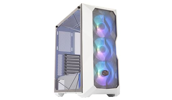 Immagine di COOLER MASTER CASE TD500 MESH WHITE ARGB MID TOWER, SIDE PANEL, MICROATX-MINI ITX, 2XUSB 3.2, 2XUSB 2.0, 1X3.5MM AUDIO JACK, 1X3.5MM MIC JACK, 1XARGB CONTROLLER, 1XARGB 2-TO-3 SPLITTER, 3X120MM ARGB FAN FRONT, BIANCO