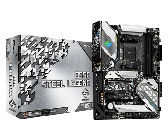 Immagine di ASROCK MB AMD B550 STEEL LEGEND AM4 4DDR4, 1M2, 6SATA3 ATX