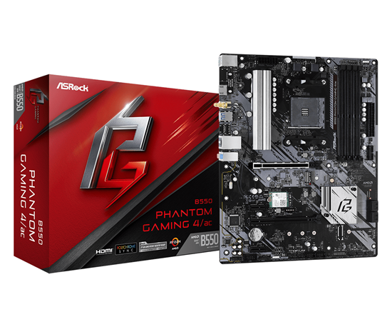 Immagine di ASROCK MB AMD B550 PHANTOM GAMING 4/AC AM4, 4DDR4, 6SATA3 ATX