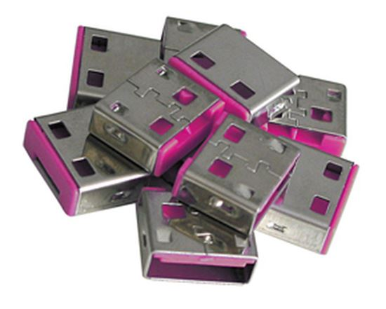 Immagine di LINDY SERRATURE ADDIZIONALI PER PORTE USB ROSA