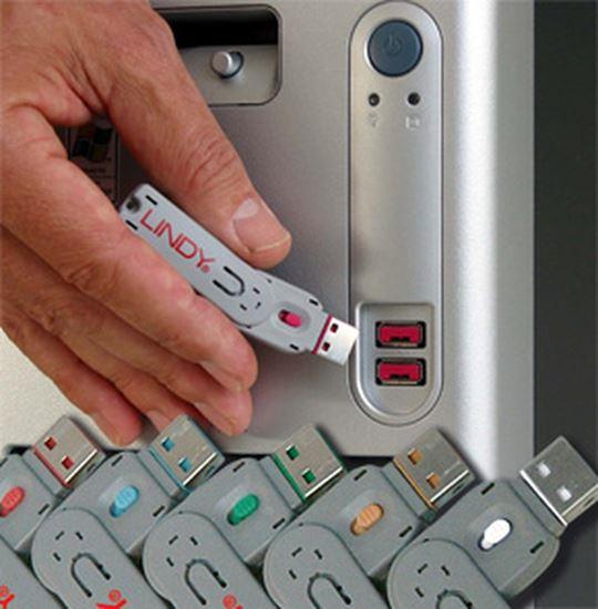 Immagine di LINDY SERRATURE PER PORTE USB ROSSE