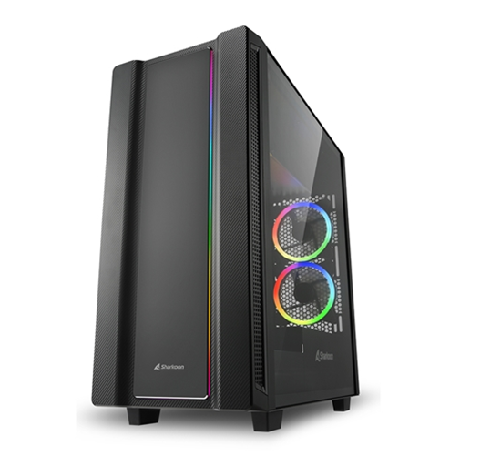 Immagine di SHARKOON CASE REV220 ATX 7 SLOTS EXPANSIONS, 2 USB 3.0, 2 USB 2.0, DRIVE BAY DA 2,5/3,5