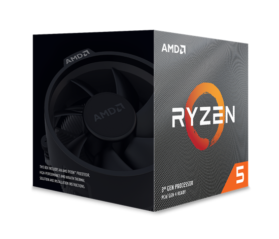 Immagine di AMD CPU RYZEN 5 3600XT 4,5GHZ AM4 6 CORE 35MB CACHE 95W WITH WRAITH SPIRE COOLER