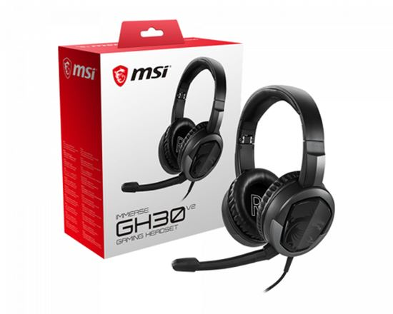 Immagine di MSI CUFFIE HEADSET GAMING IMMERSE GH30 V2, IN-LINE VOLUME E MIC CONTROL, MICROFONO REMOVIBILE, 3.5MM JACK, COLORE NERO