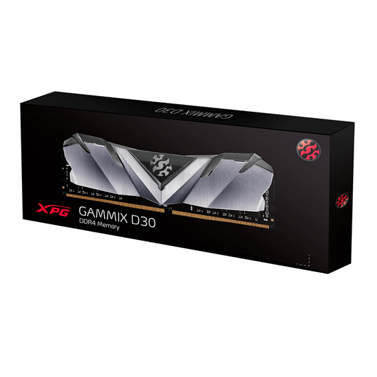 Immagine di ADATA RAM GAMING XPG GAMMIX D30 8GB (1X8GB) 3200MHZ DDR4 CL16-20-20 BLACK