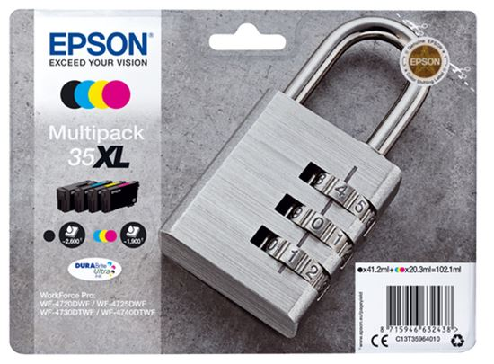 Immagine di EPSON CART. INK KIT MULTIPACK LUCCHETTO 35 XL