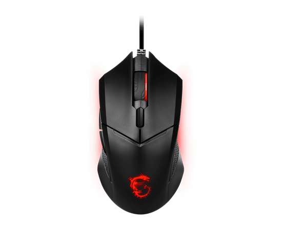 Immagine di MSI MOUSE GAMING CLUTCH GM08 WIRED OTTICO, 4200 DPI, LED ROSSO