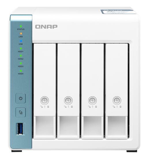 Immagine di QNAP NAS TOWER 4BAY 1.7GHZ QUAD CORE, 2GB DDR3L, 1X 2.5GBE, 1X GBE, 3X USB3.2