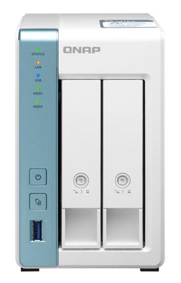 Immagine di QNAP NAS TOWER 2BAY 1.7GHZ QUAD CORE, 2GB DDR3L, 1X 2.5GBE, 1X GBE, 3X USB3.2