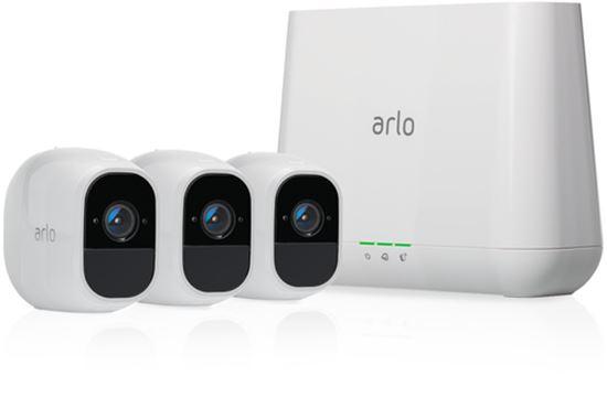 Immagine di ARLO PRO 2 VMS4330P KIT BASE SSISTEMA DI VIDEOSORVEGLIANZA WI-FI CON 3 TELECAMERE DI SORVEGLIANZA, AUDIO 2 VIE, BATTERIA RICARICABILE, FULL HD, VISIONE NOTTURNA, INTERNO/ESTERNO, VCR OPZ, ALEXA/GOOGLE HOME