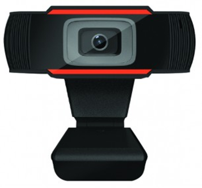 Immagine di MACHPOWER WEBCAM USB HD 720P 1MP SMART MEETING, MICROFONO INCORPORATO, NERO