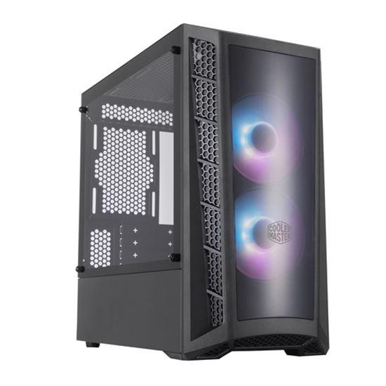 Immagine di COOLER MASTER CASE MASTERBOX MB320L MINI-TOWER ATX, 4 SLOT ESPANSIONE, 2XUSB 3.2, 1X3.5MM JACK AUDIO, 2X120MM ARGB FAN FRONT, 1X120MM FAN REAR, ARGB