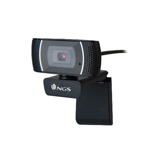 Immagine di NGS WEBCAM FULL HD 1920X1080P, USB 2.0, MICROFONO OMNIDIREZIONALE INCORPORATO, LUNGHEZZA CAVO 2MT, SENSORE CMOS 1/4, ANGOLO VISUALE 60 GRADI, AUTOFOCUS