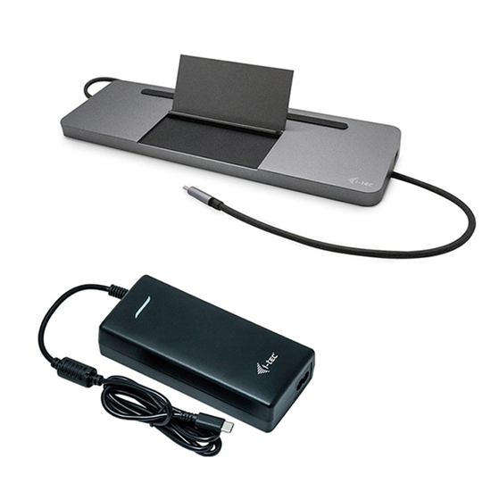 Immagine di I-TEC DOCKING STATION USB-C METAL LOW PROFILE TRIPLE DISPLAY + POWER DELIVERY 85W + CHARGER 112W