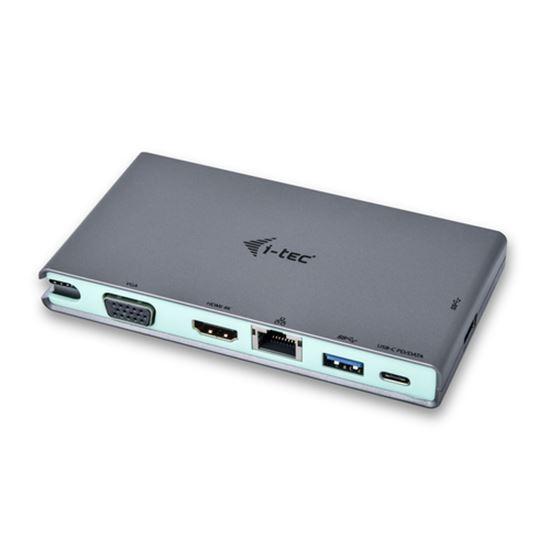 Immagine di I-TEC DOCKING STATION USB-C DA VIAGGIO CON ADATTATORE MULTIFUNZIONE